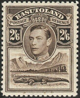Basutoland 1938 KGVI 2/6d Sepia MUH