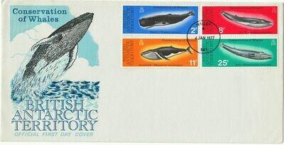BAT 1977 QEII Whale Conservation Set on Unaddressed FDC