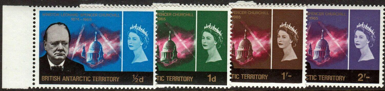 BAT QEII 1966 Churchill Commemoration Set Marginal MUH