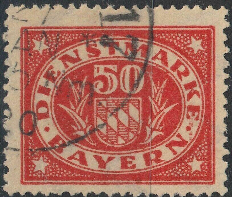 Bavaria 1920 50pf Red Postage Due FU