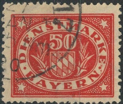 Bavaria 1920 50pf Red Postage Due FU