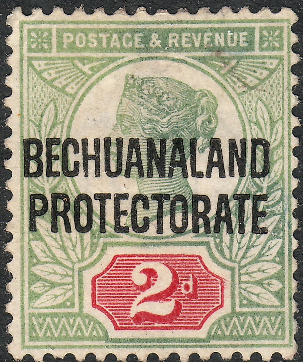 Bechuanaland 1891 QV 2d Grey-Green and Carmine MH