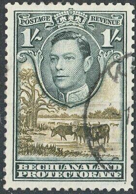 Bechuanaland 1938 KGVI 1/- Black & Brown-Olive VFU