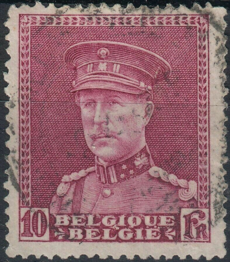 Belgium 1931 10f Red King Albert I FU