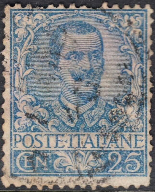 Italy 1901 25c Blue Used