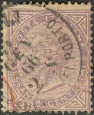 Italy 1863 60c Mauve Used - Spacefiller