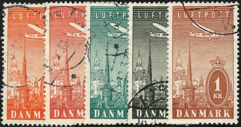 Denmark 1934 Airmail Set FU