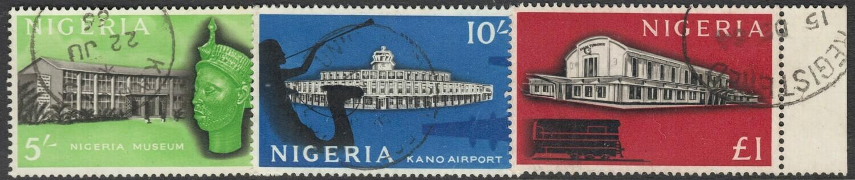 Nigeria 1961 QEII Buildings High Values VFU
