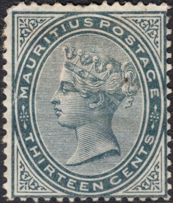Mauritius 1880 QV 13c Slate MHR