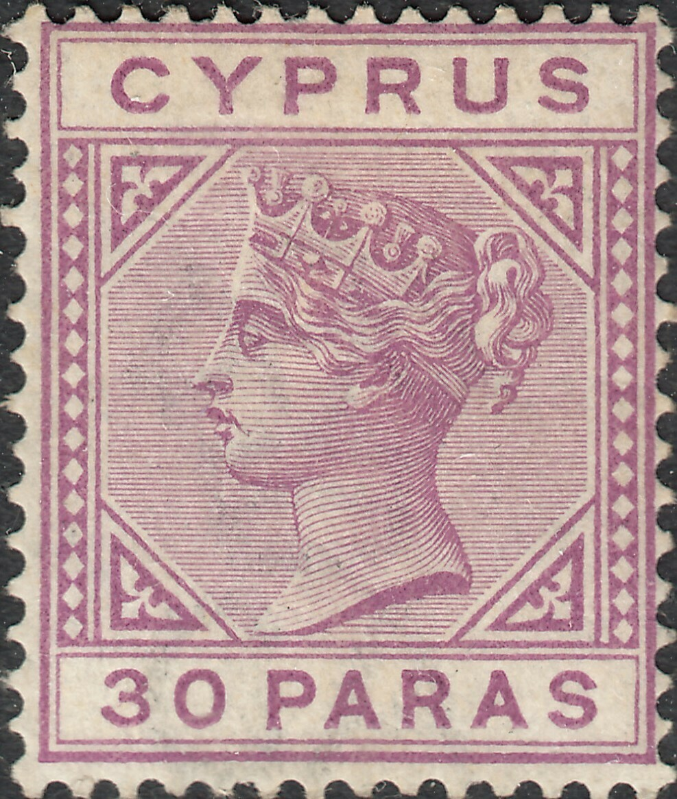 Cyprus 1883 QV 30pa Pale Mauve MH