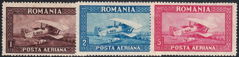 Romania 1928 Airmail Set MVLH