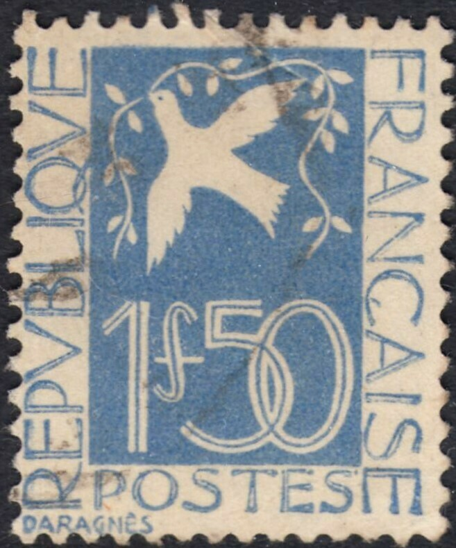 France 1934 1f.50 Dove of Peace Used