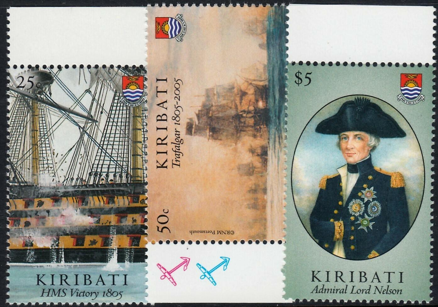 Kiribati 2005 Bicentenary of Battle of Trafalgar (2nd Series) Set Marginal MUH