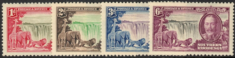 Southern Rhodesia 1935 KGV Silver Jubilee Set MH