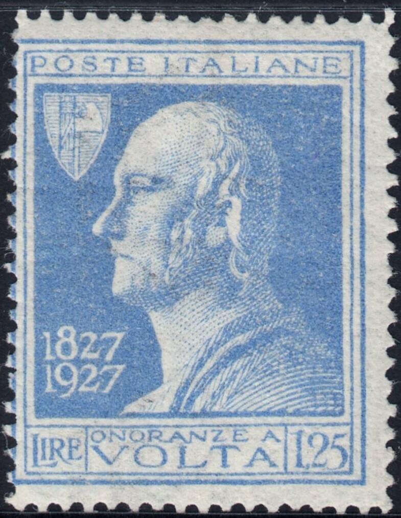 Italy 1927 1l.25 Blue Volta MH