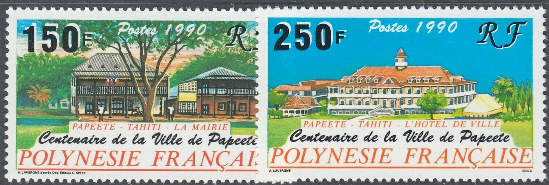 French Polynesia 1990 Centenary of Papeete Set MUH