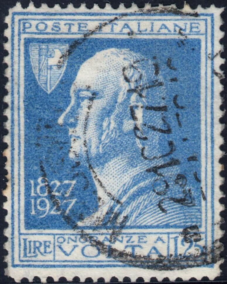 Italy 1927 1l.25 Blue Volta FU