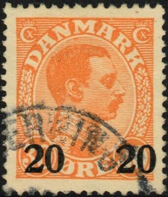 Denmark 1926 20ore on 30ore Orange VFU