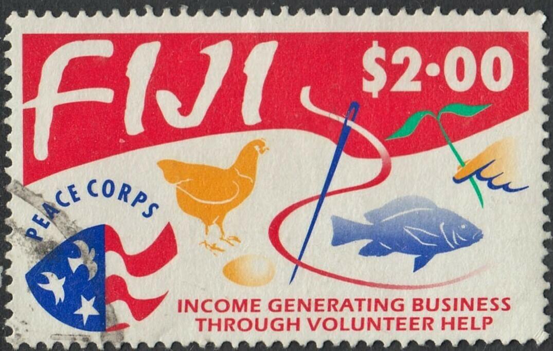 Fiji 1993 QEII $2 25th Anniversary of Peace Corps in Fiji VFU