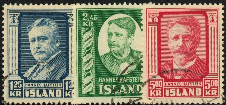 Iceland 1954 Hannes Hafstein Set Superb Used