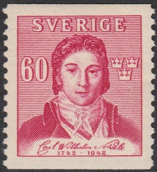 Sweden 1942 60� Red Birth Bicentenary of CW Scheele MLH