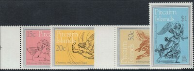 Pitcairn Islands 1982 QEII Christmas Raphael's Angels Set MUH