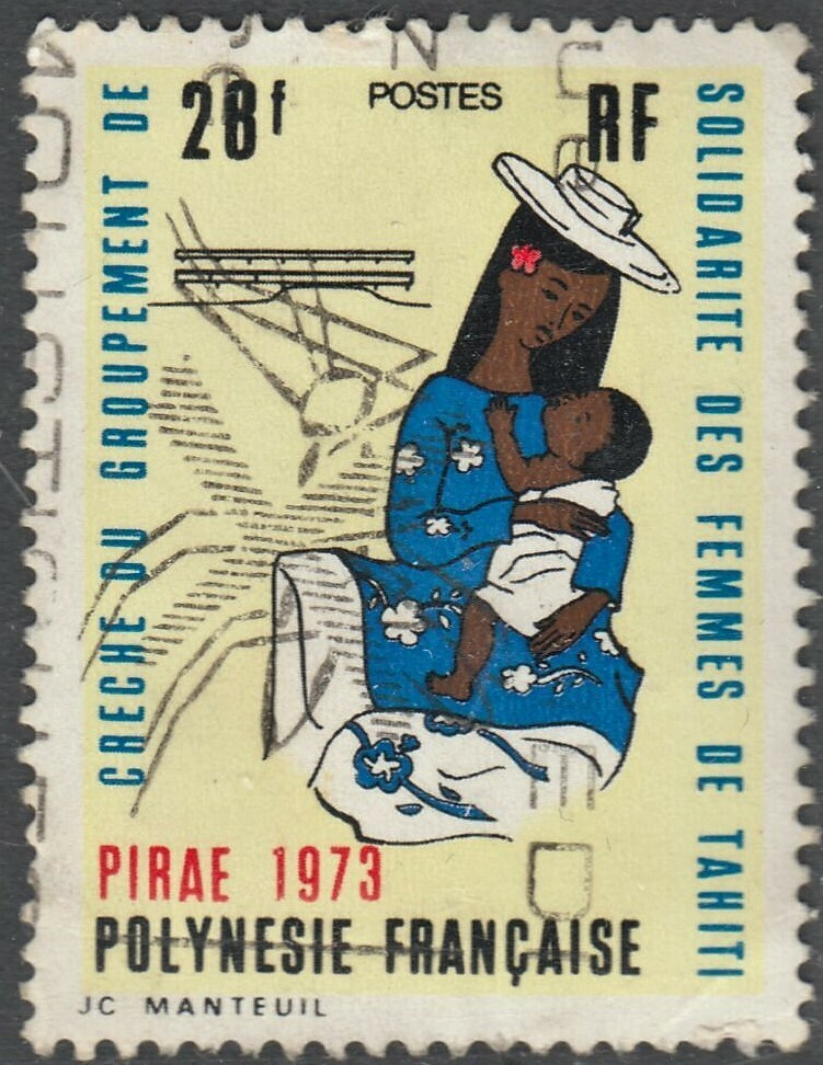 French Polynesia 1973 28f Opening of Tahitian Womens Union Creche Used