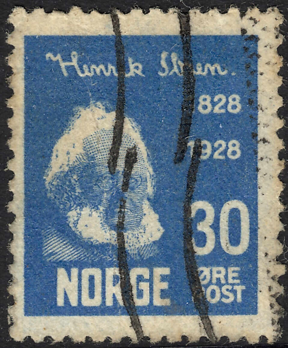 Norway 1928 30ore Ibsen Centenary Used