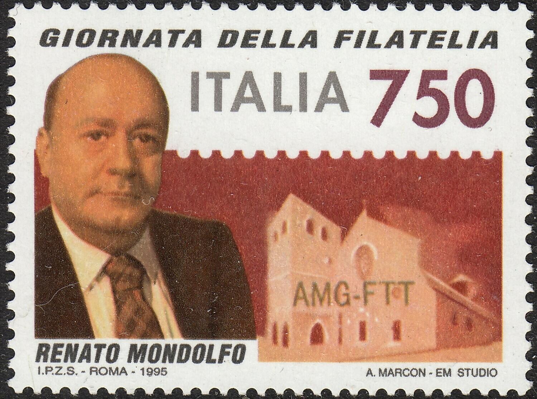 Italy 1995 750lire Stamp Day MUH