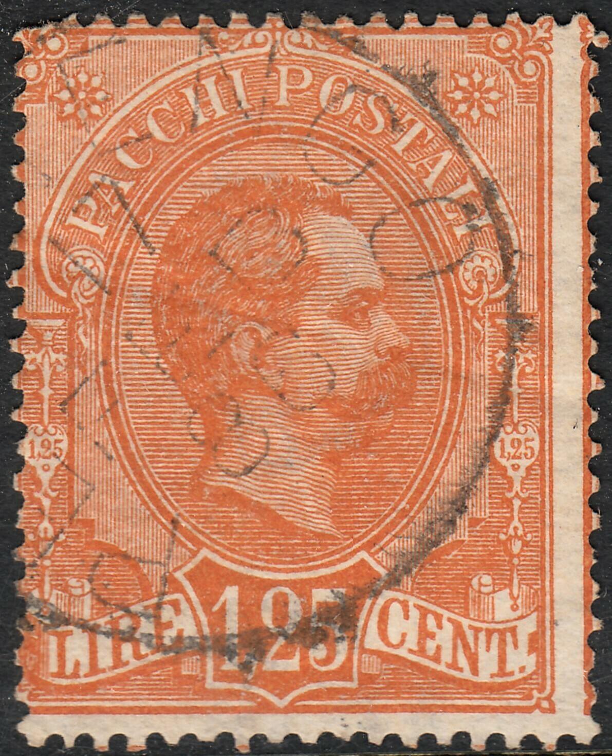 Italy 1884 1l25 Orange Parcel Post VFU