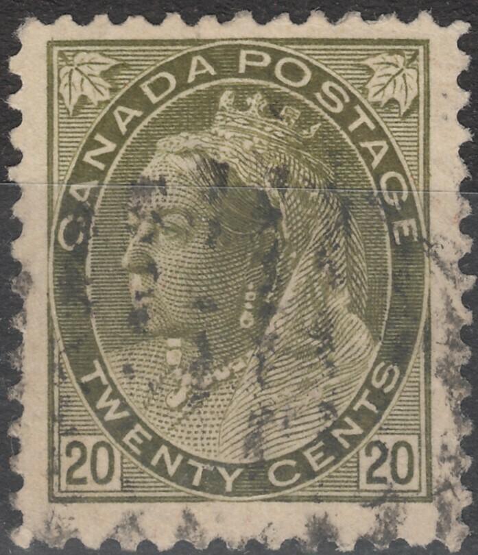 Canada 1900 QV 20c Olive-green FU