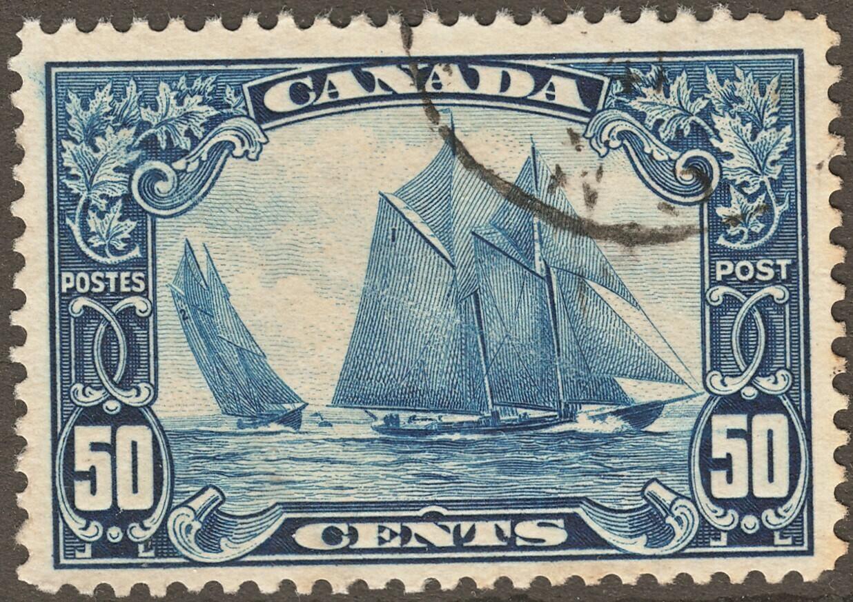 """Canada 1929 KGV 50c """"Bluenose"""" VFU"""