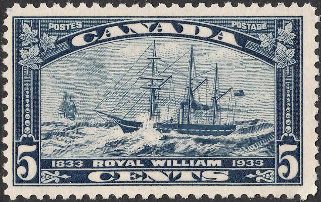 Canada 1933 KGV 5c Royal William MUH