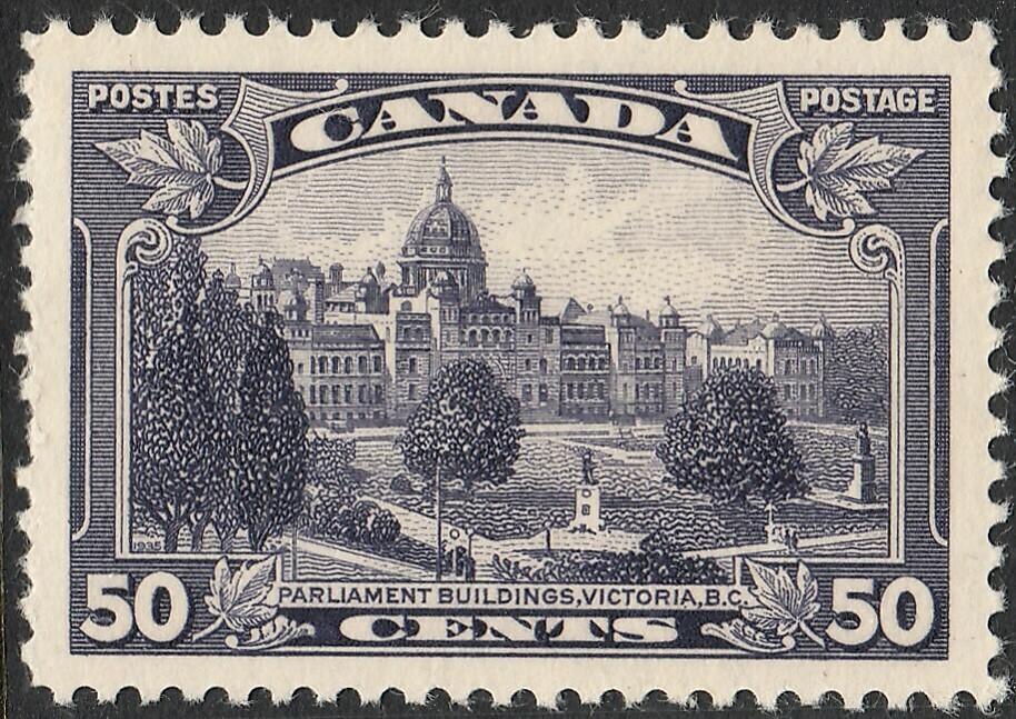 Canada 1935 KGV 50c Parliament MUH