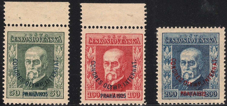 Czechoslovakia 1925 International Olympic Congress Prague Set MLH