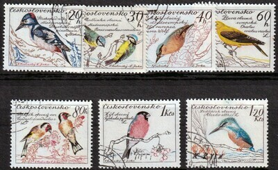 Czechoslovakia 1959 Birds set of 7 CTO
