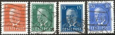 Estonia 1936 President Pats Better Values Part Set Used