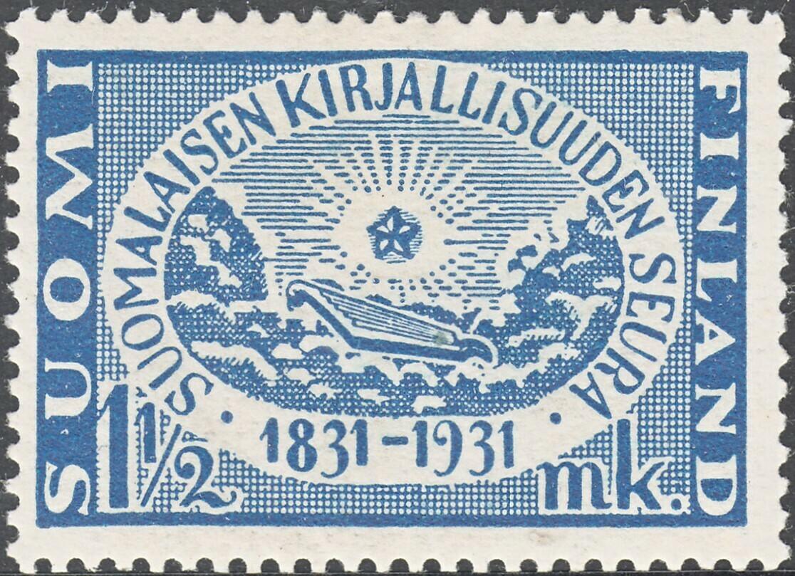 Finland 1931 1½m Finnish Literary Society Anniversary MH
