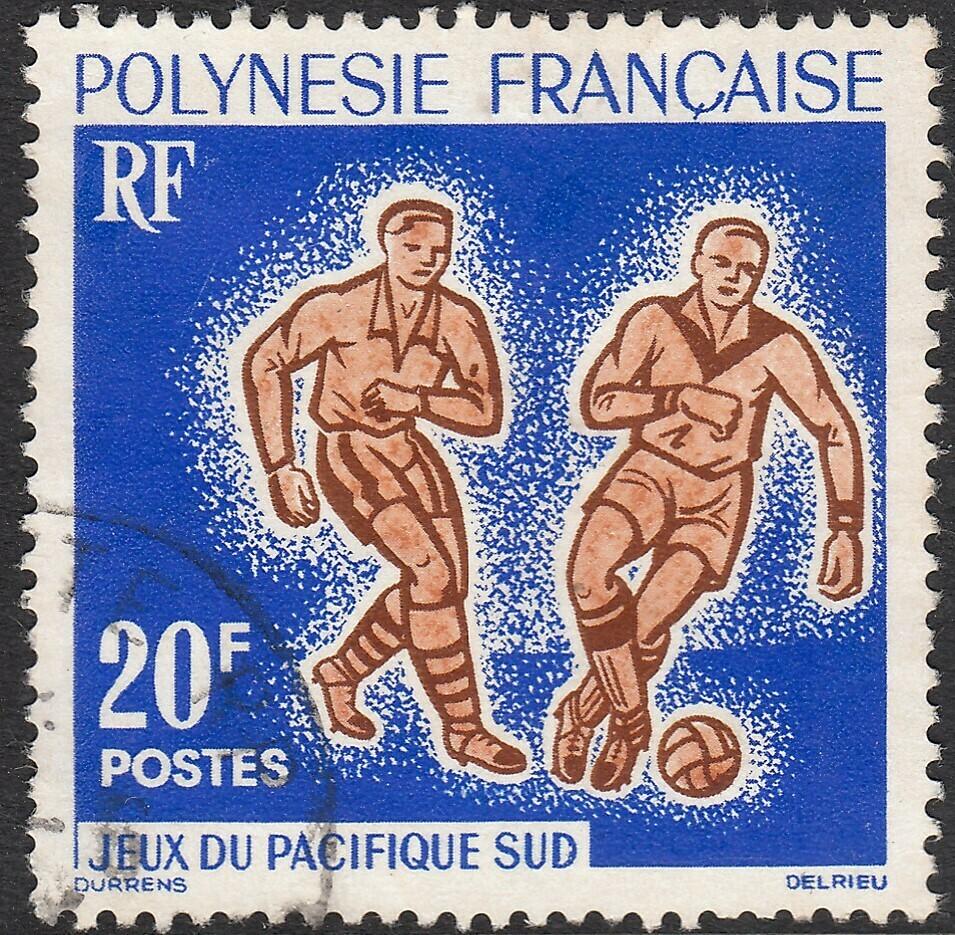 French Polynesia 1962 20f South Pacific Games Football VFU