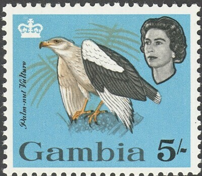 Gambia 1963 QEII 5/- Palm-Nut Vulture MUH