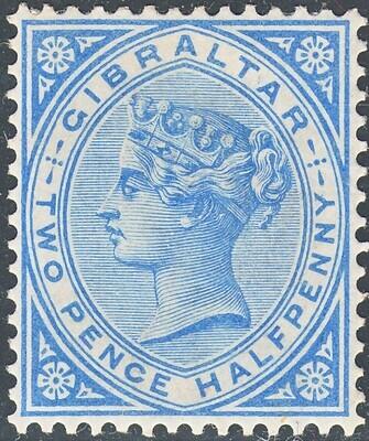 Gibraltar 1886 QV 2½d Blue MH