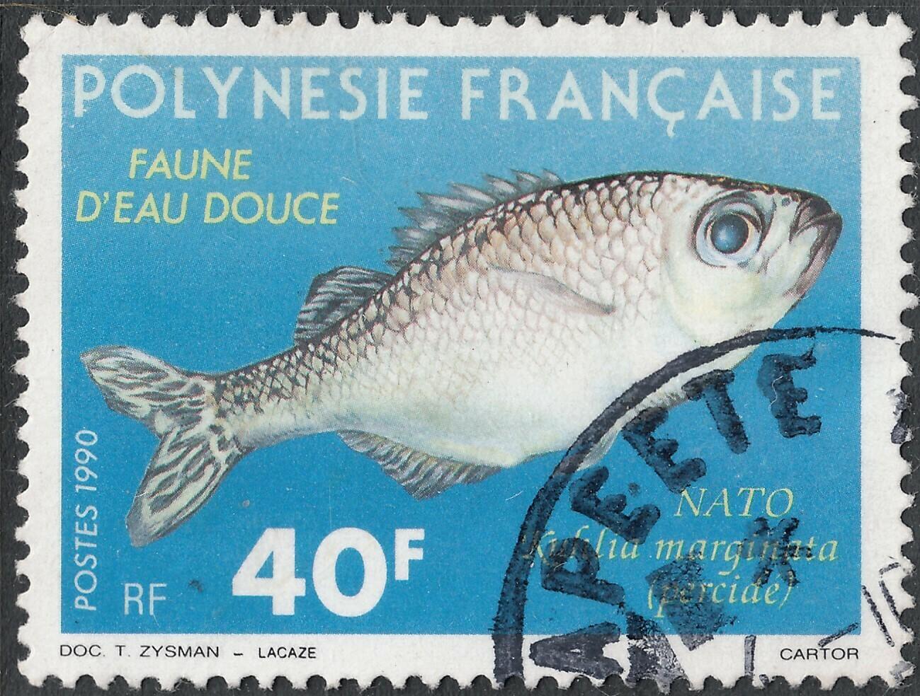 French Polynesia 1990 40f Fish VFU