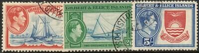 Gilbert & Ellice Islands 1939 KGVI Definitive High Values VFU