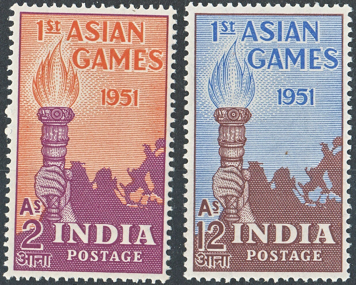 India 1951 First Asian Games Set MLH