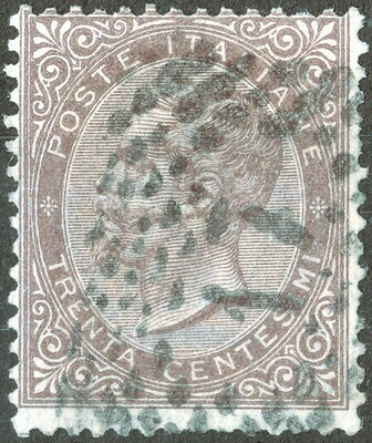 Italy 1863 30c Brown Used