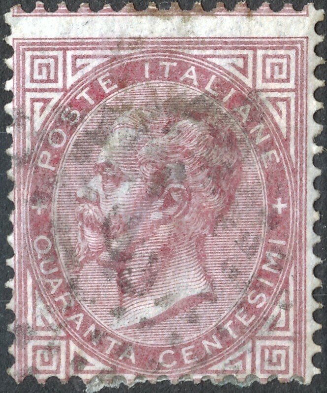 Italy 1863 40c Red Used
