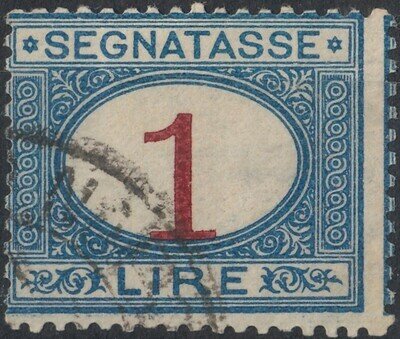 Italy 1870 1l. Brown & Blue Postage Due FU