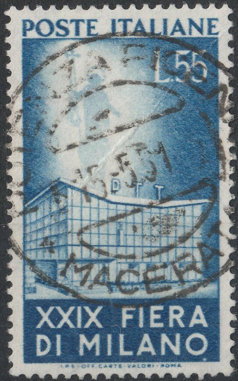 Italy 1951 55l Milan Fair Used Spacefiller