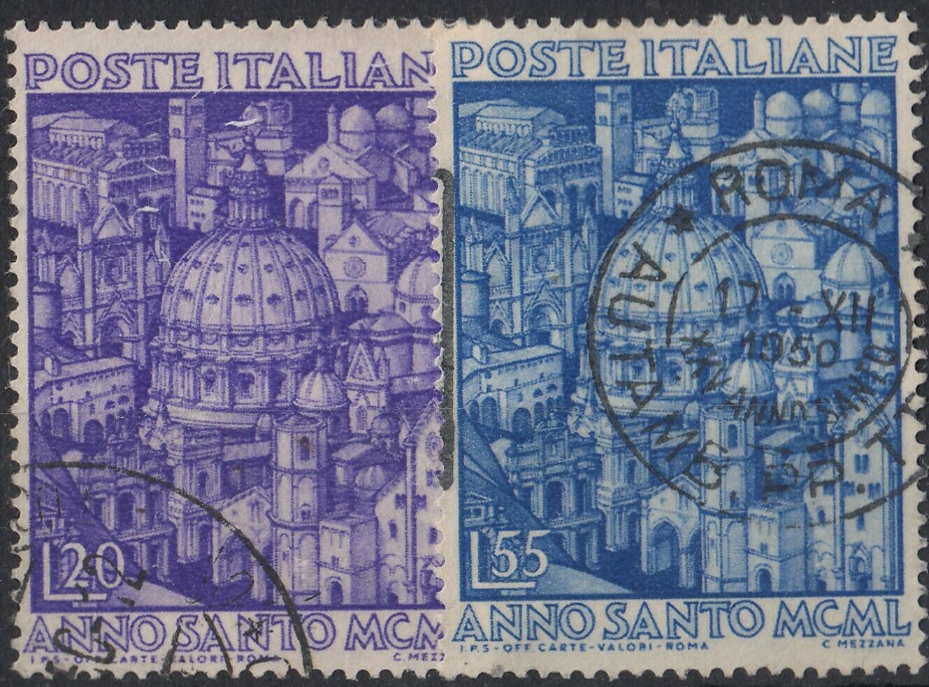 Italy 1950 Holy Year Set VFU