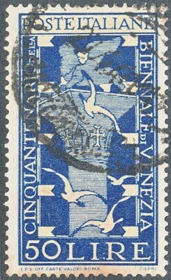 Italy 1949 50l 25th Biennial Venice Art Exhibition Used